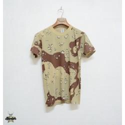 T-Shirt Maglia Militare Caccia Mimetica Woodland