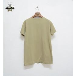 T-Shirt Maglia Marina Militare Collo a Barca Beige