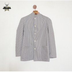 Vintage Striped Navy Chef Jacket