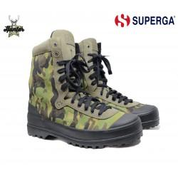 Scarpe Stivaletti Sneakers Superga 2351 Suecamo Camouflage Green