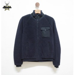 Giacca Bomber in Lana Merino Vintage Americano Woolrich