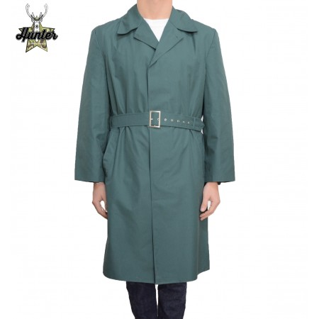 Genuine German Army Mens NVA Green Officers Trench Coat Waterproof Raincoat