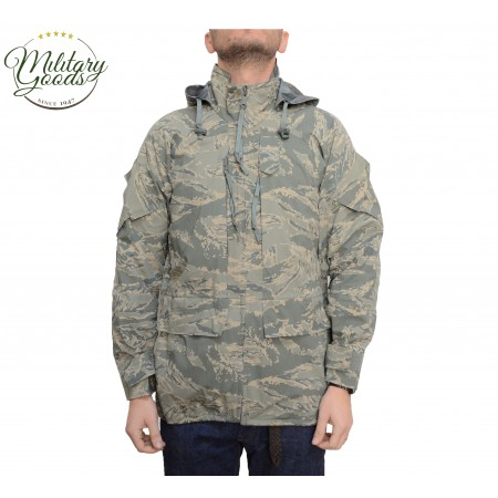 Parka Militare Esercito Americano US Air Force Apecs Digital Tiger Stripe in Goretex