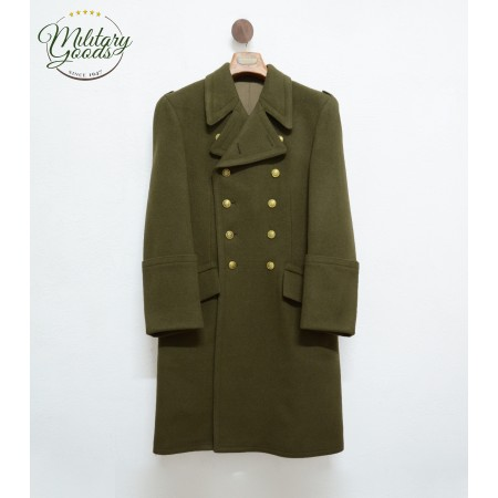 Double-Breasted Coat in Military Wool Hungarian Army