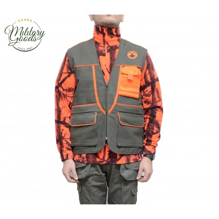 Gilet da Caccia Outdoor in Canvas Antispine - CTB
