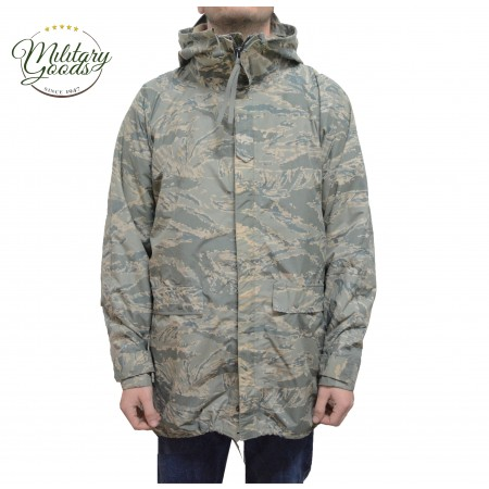 Copri Giacca Impermeabile Militare Esercito Americano US Air Force Apecs Digital Tiger Stripe