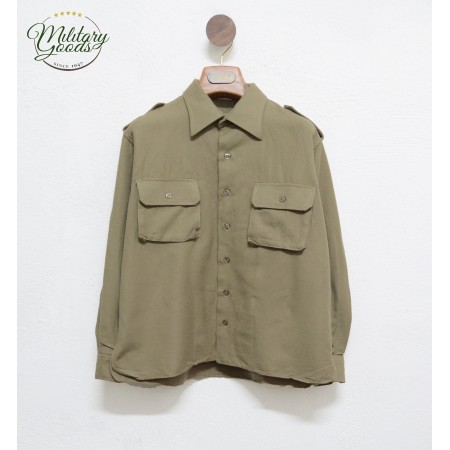 Vintage Italian Army Military Flannel Shirt