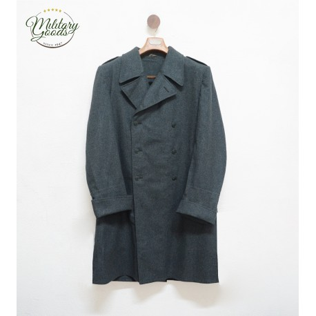 Swiss Army Military Coat in Double-Breasted Wool
