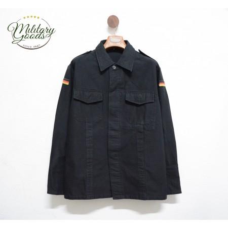 Camicia Militare Esercito Tedesco Moleskin Colore Nero