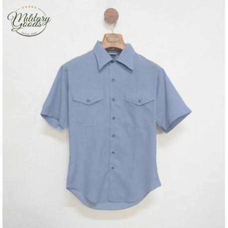 Camicia da Lavoro U.S NAVY Chambray Mezza Manica Anni 80 / 90
