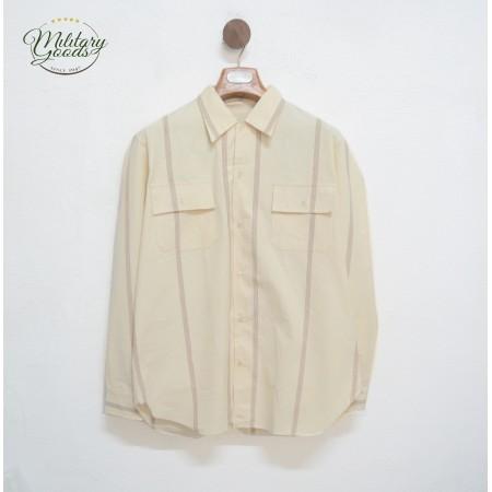 Camicia Vintage a Righe Manica Lunga in Cotone