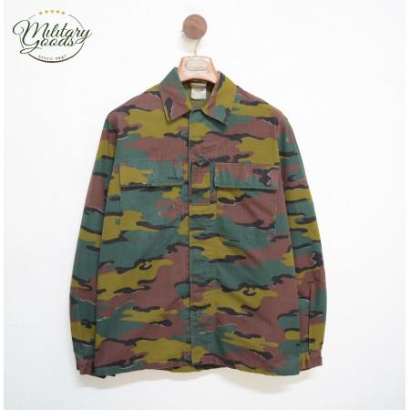 Military Belgian Army Shirt Jacket Mod. M90 Vintage