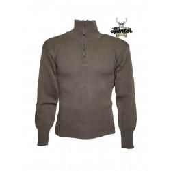 Maglione Militare Esercito Italiano Mezza Zip di Lana
