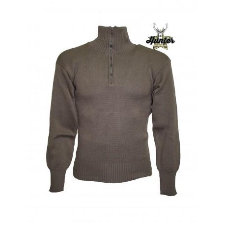 Maglione Militare Mezza Zip