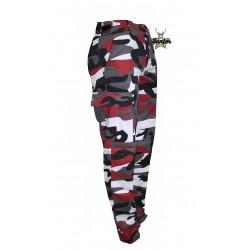 Pantaloni Militare Cargo BDU Red Camo