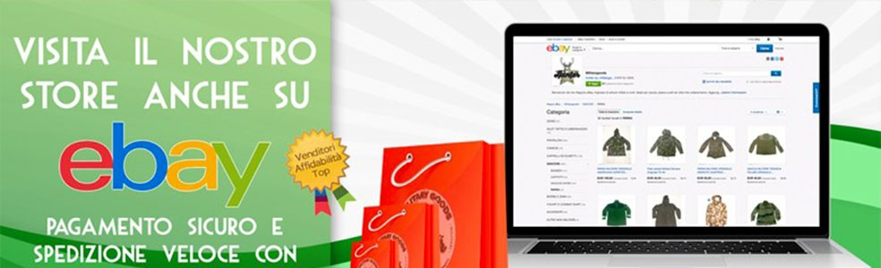 vieni a trovarci su ebay
